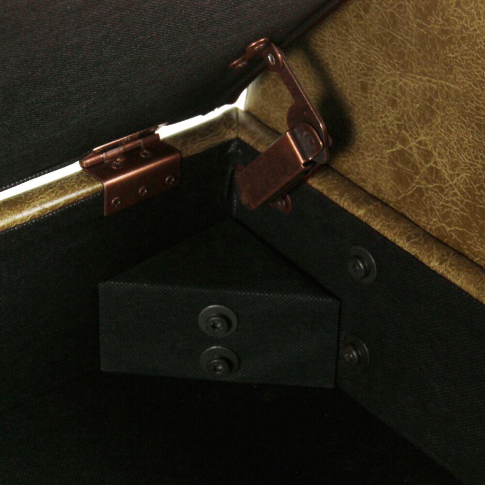 Kinfine Fulton Storage Bench in Light Brown, , large