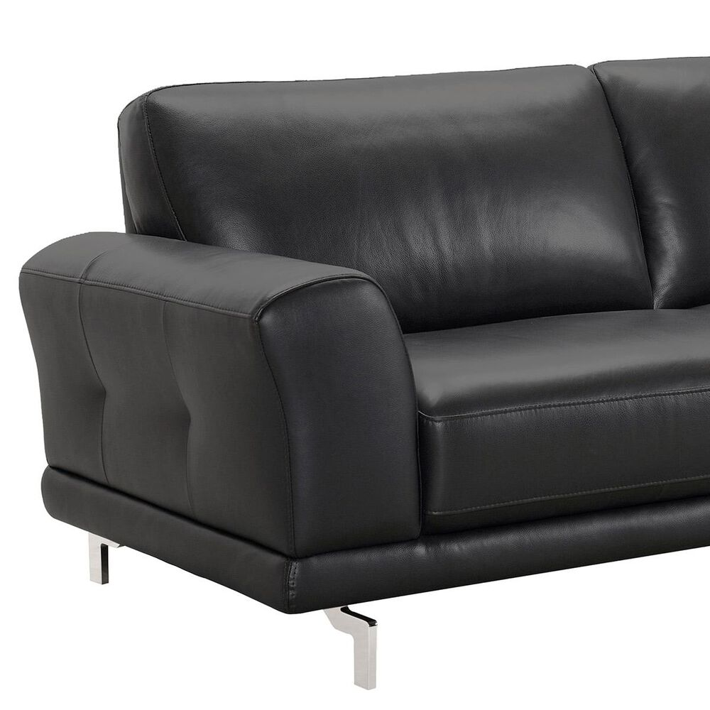 Blue River Everly Sofa in Black and Stainless Steel, , large