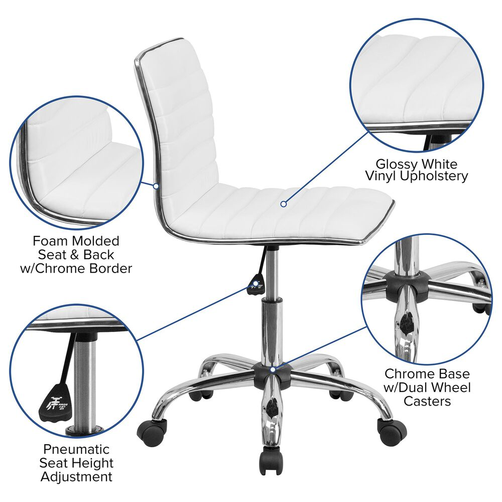 Flash Furniture Task Chair in White, , large