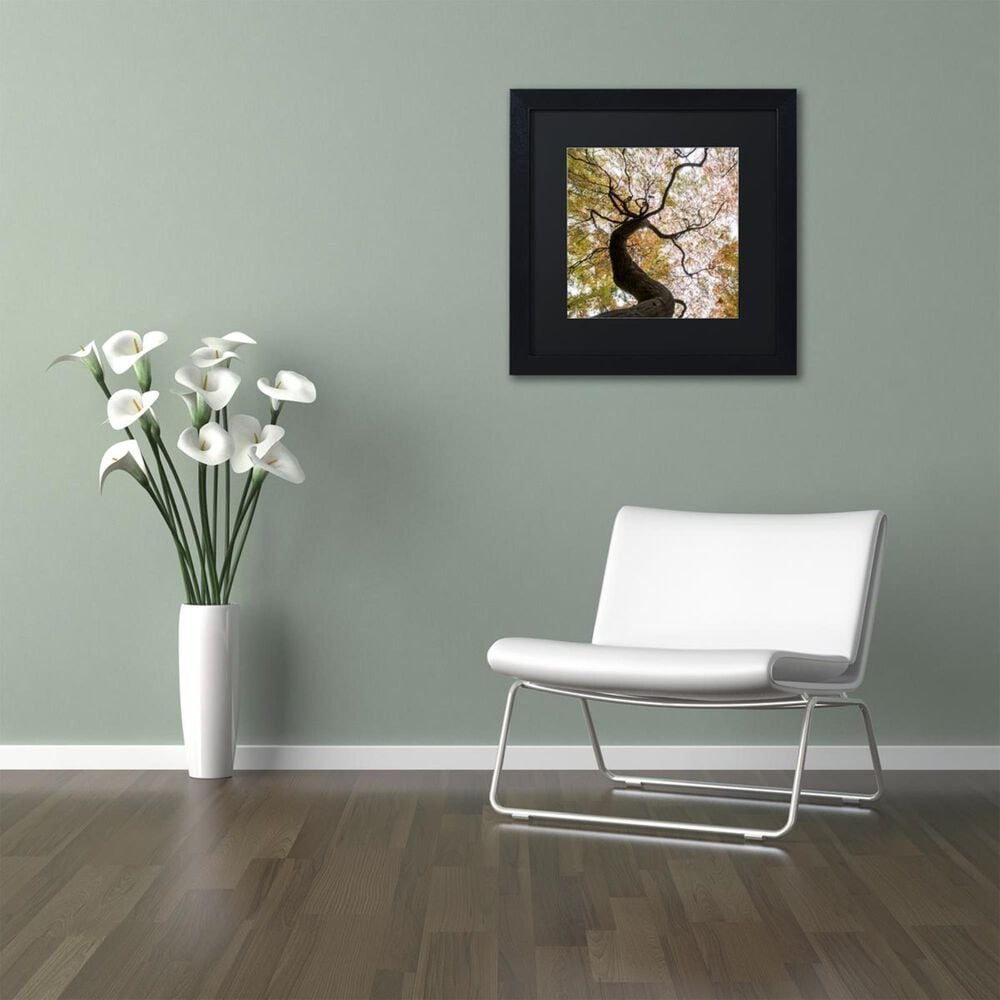 "Timberlake 11"" x 11"" Under a Japanese Maple 2 Art in Black Matting and Black Frame, , large"