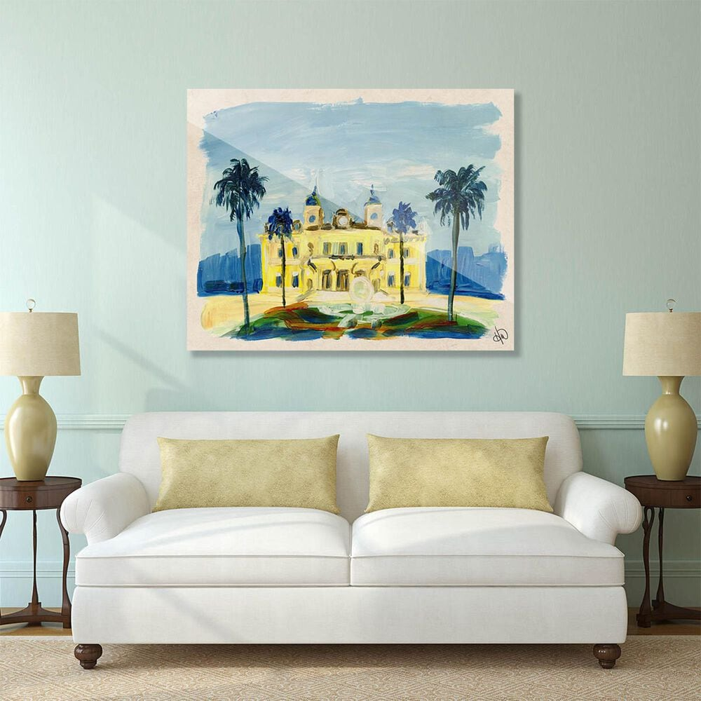"Kathy Ireland Home ""Monte Carlo Casino"" 20"" x 30"" Acrylic Wall Art Print, , large"
