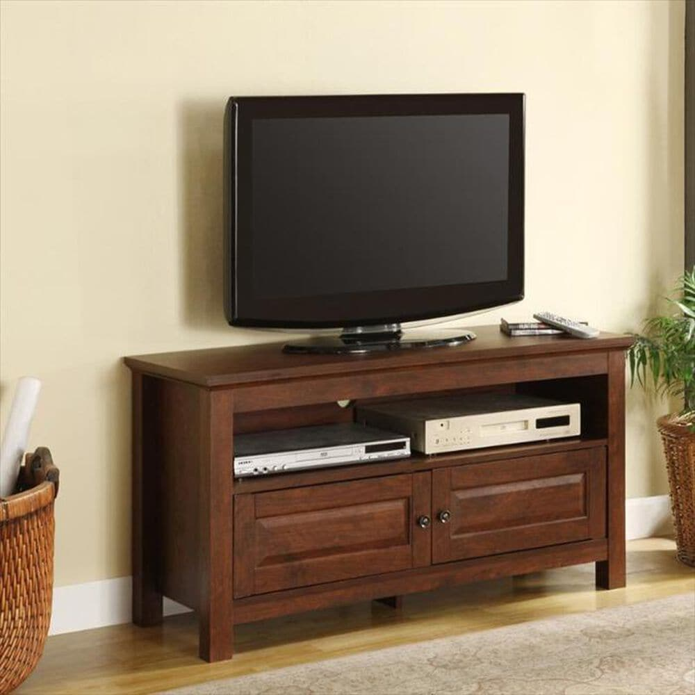 """Walker Edison 44"""" Wood TV Stand in Brown, , large"""