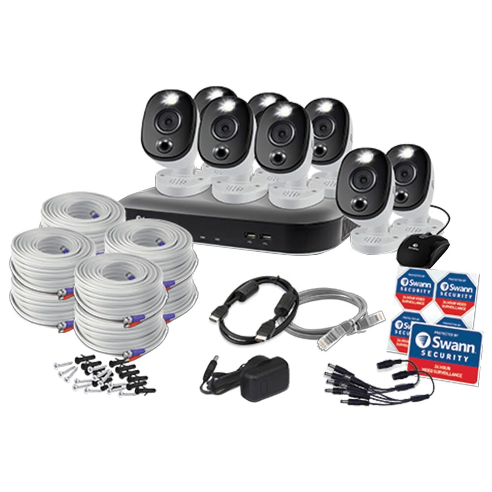Swann 8 Camera 8 Channel 4K Ultra HD DVR Security System in Black and White, , large