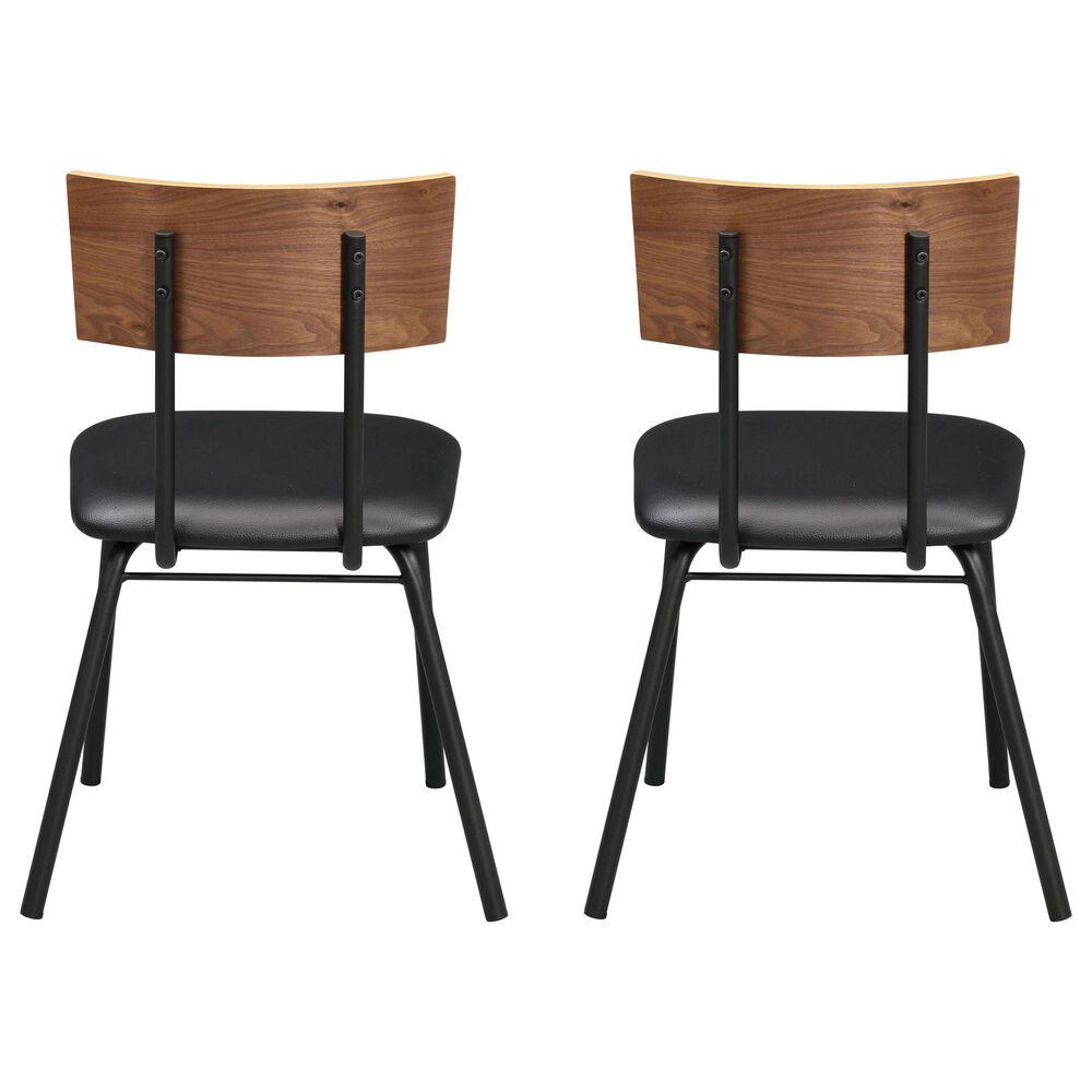 Gunnison Co. Jurgen Side Chair in Black/Walnut (Set of 2), , large