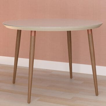 """Manhattan Utopia 45.28"""" Round Dining Table in Off White, , large"""