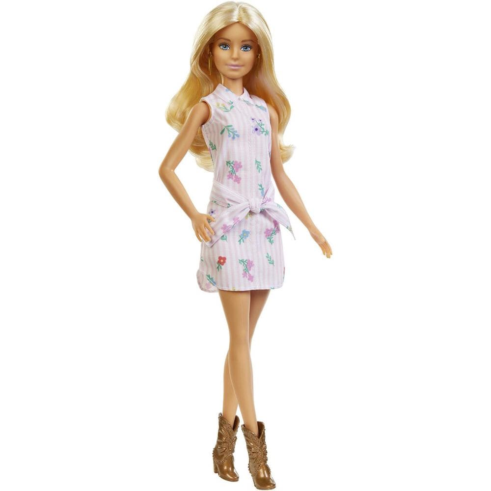 Barbie Fashionista Doll with Wavy Blonde Hair, , large