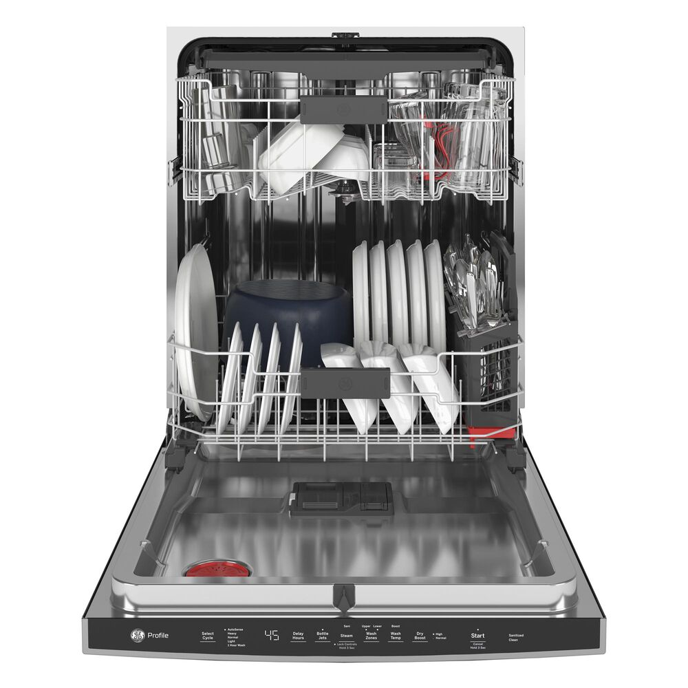 GE Profile Built-In Dishwasher with Hidden Controls in Stainless Steel, , large
