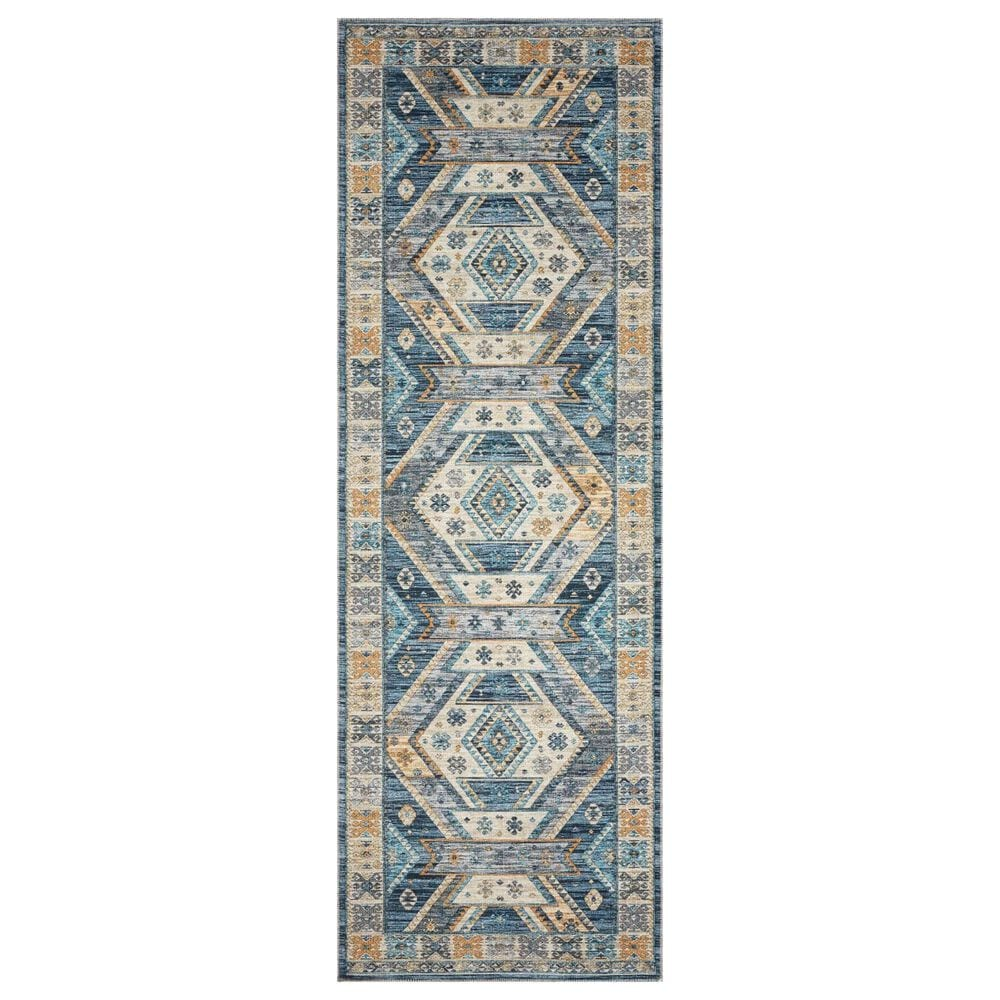 """Loloi II Zion ZIO-02 2'6"""" x 7'6"""" Ocean and Gold Runner, , large"""