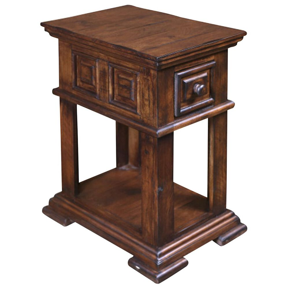 Sunset Bay Marquis Chairside Table in Rustic Brown, , large
