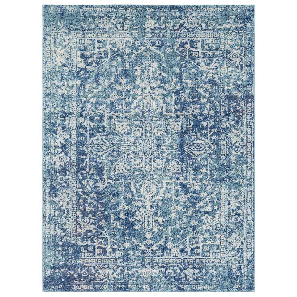 "Surya Harput HAP-1023 2"" x 3"" Teal, Dark Blue and Beige Scatter Rug, , large"