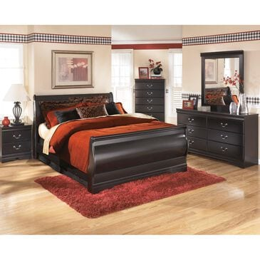 Signature Design by Ashley Huey Vineyard 4 Piece Full Bed Set in Black, , large