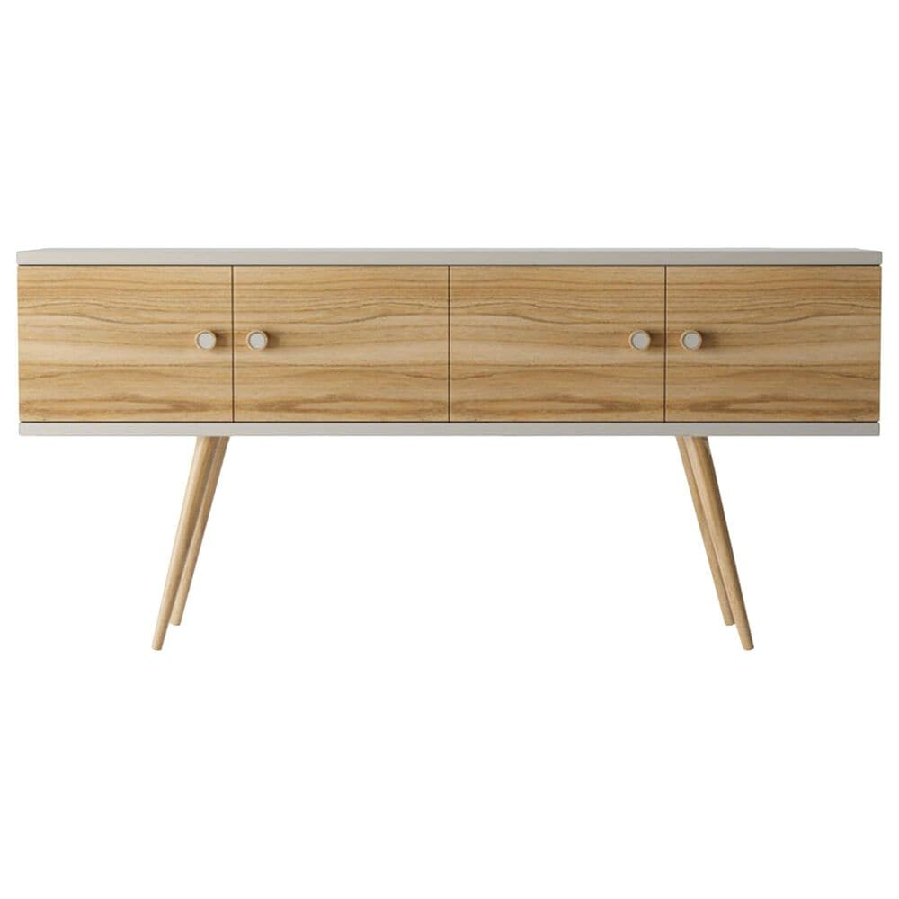 """Dayton Theodore 60"""" Sideboard in Off White/Cinnamon, , large"""