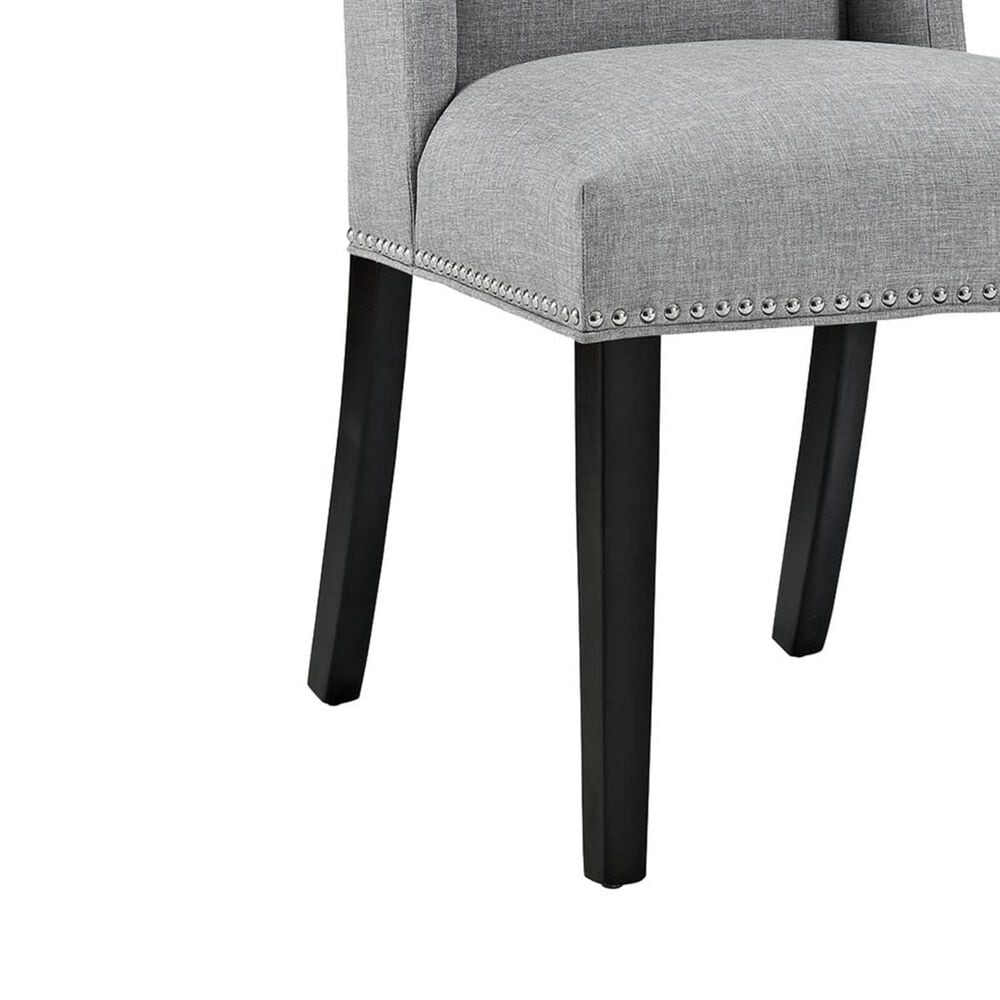 Modway Baron Fabric Dining Chair in Light Gray, , large