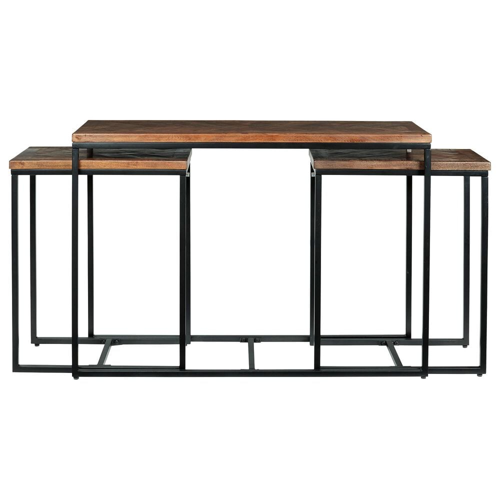 Signature Design by Ashley Jadenley 3-Piece Tables in Distressed Brown and Black, , large