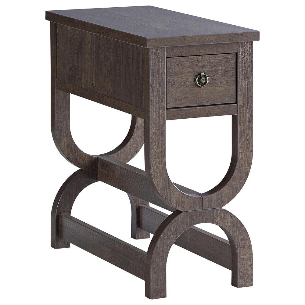Furniture of America Roach Side Table in Walnut Oak, , large