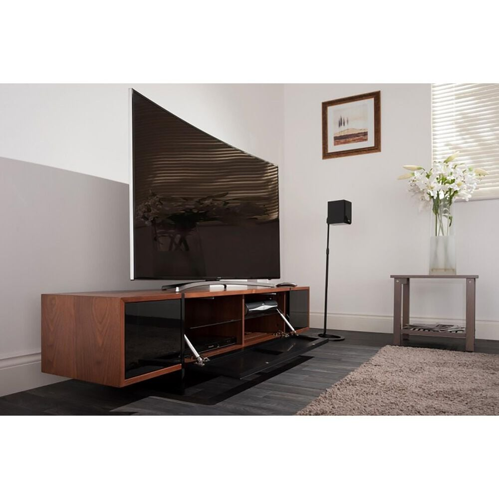 """AVF Group Edge 70"""" TV Stand with Drop Door in Walnut and Black, , large"""