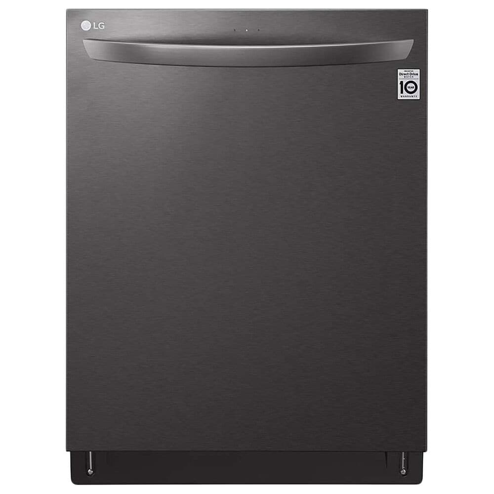 """LG 24"""" Built-In Bar Handle Dishwasher with 3rd Rack in Print Proof Black Stainless Steel, , large"""