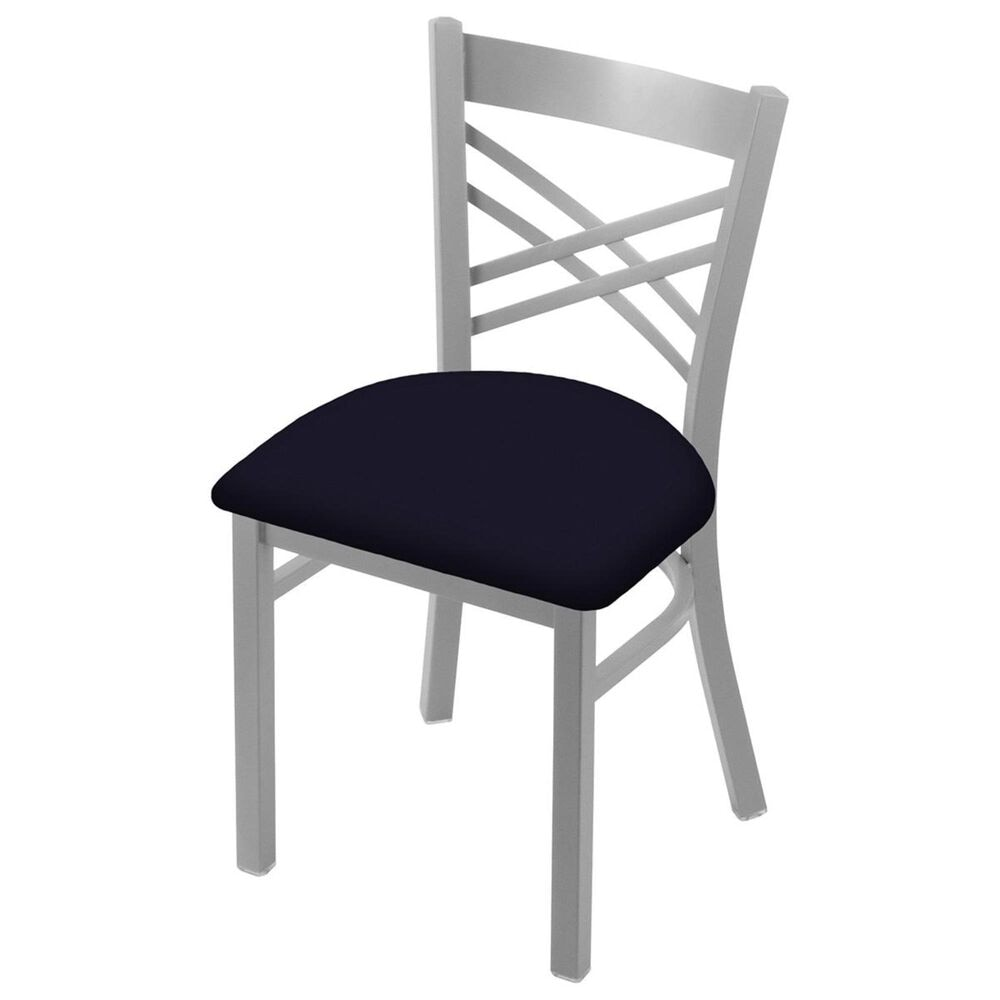 """Holland Bar Stool 620 Catalina 18"""" Chair with Anodized Nickel and Canter Twilight Seat, , large"""