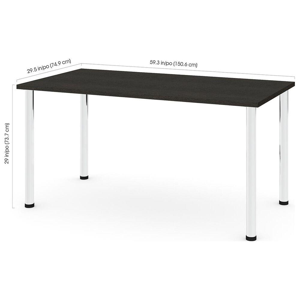 "Bestar 60"" Table in Deep Grey, , large"