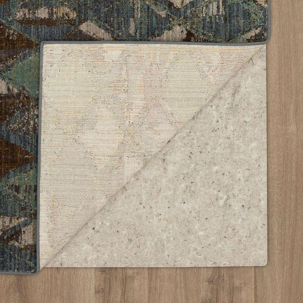 "Karastan Montreal Finley 91961-50128 9'6"" x 12'11"" Denim, Brown and Aquamarine Area Rug, , large"