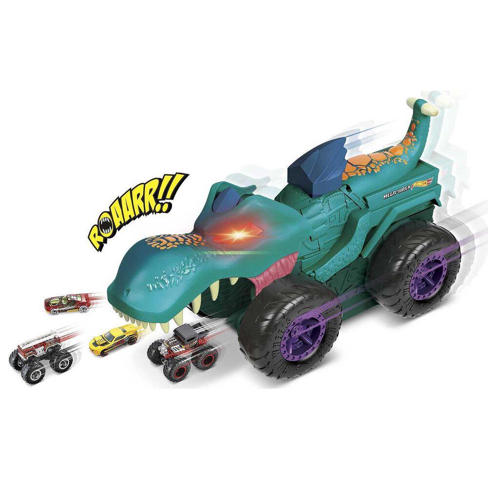 Hot Wheels Monster Trucks Car Chompi Mega-Wrex Vehicle, , large