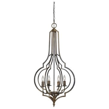 Southern Lighting Nora 4-Light Chandelier in Wrought Iron, , large