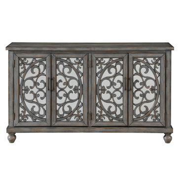 "Shell Island Furniture Mirrored 60"" Credenza in Hammond Grey Rub, , large"