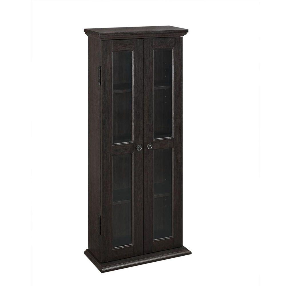 "Walker Edison 41"" Espresso Wood Media Tower Cabinet, , large"