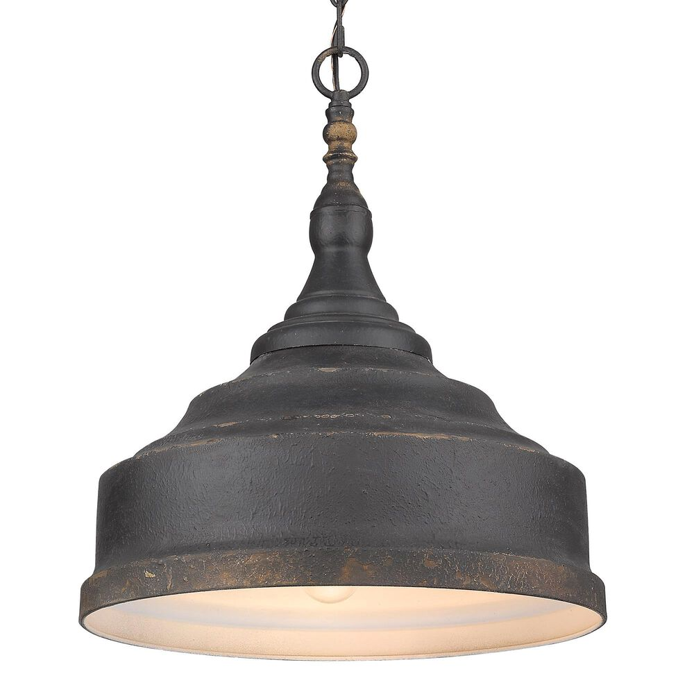 Golden Lighting Keating 3-Light Pendant in Antique Black Iron, , large