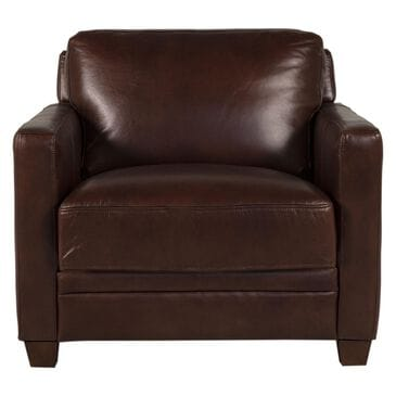 Back Nine Leather Como Leather Chair in Cognac Brown, , large
