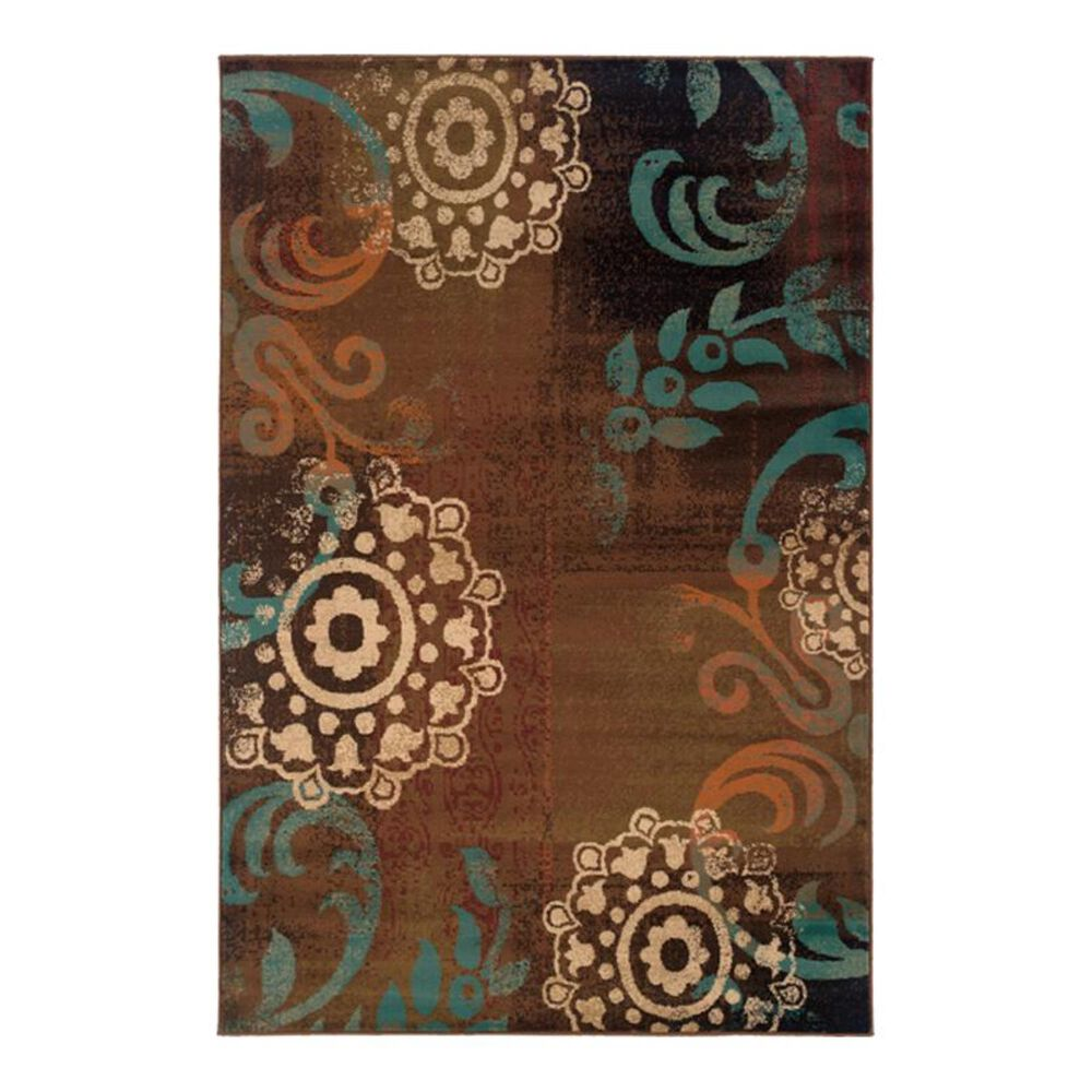 """Oriental Weavers Emerson 2822A 1'10"""" x 3'3'' Brown Scatter Rug, , large"""