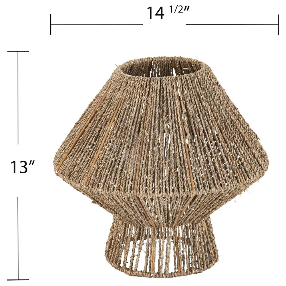 Southern Enterprises Lotte Seagrass Pendant Shade in Natural/Woven Seagrass, , large