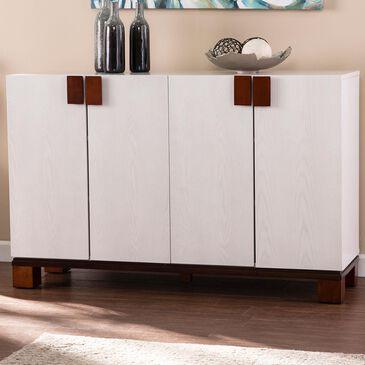 Southern Enterprises Surbiton 4-Door Storage Cabinet in Whitewashed, , large