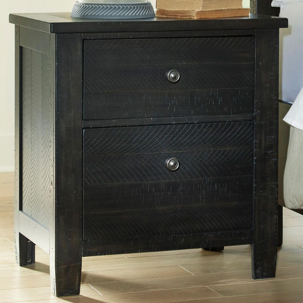 Signature Design by Ashley Noorbrook 2-Drawer Nightstand in Black, , large