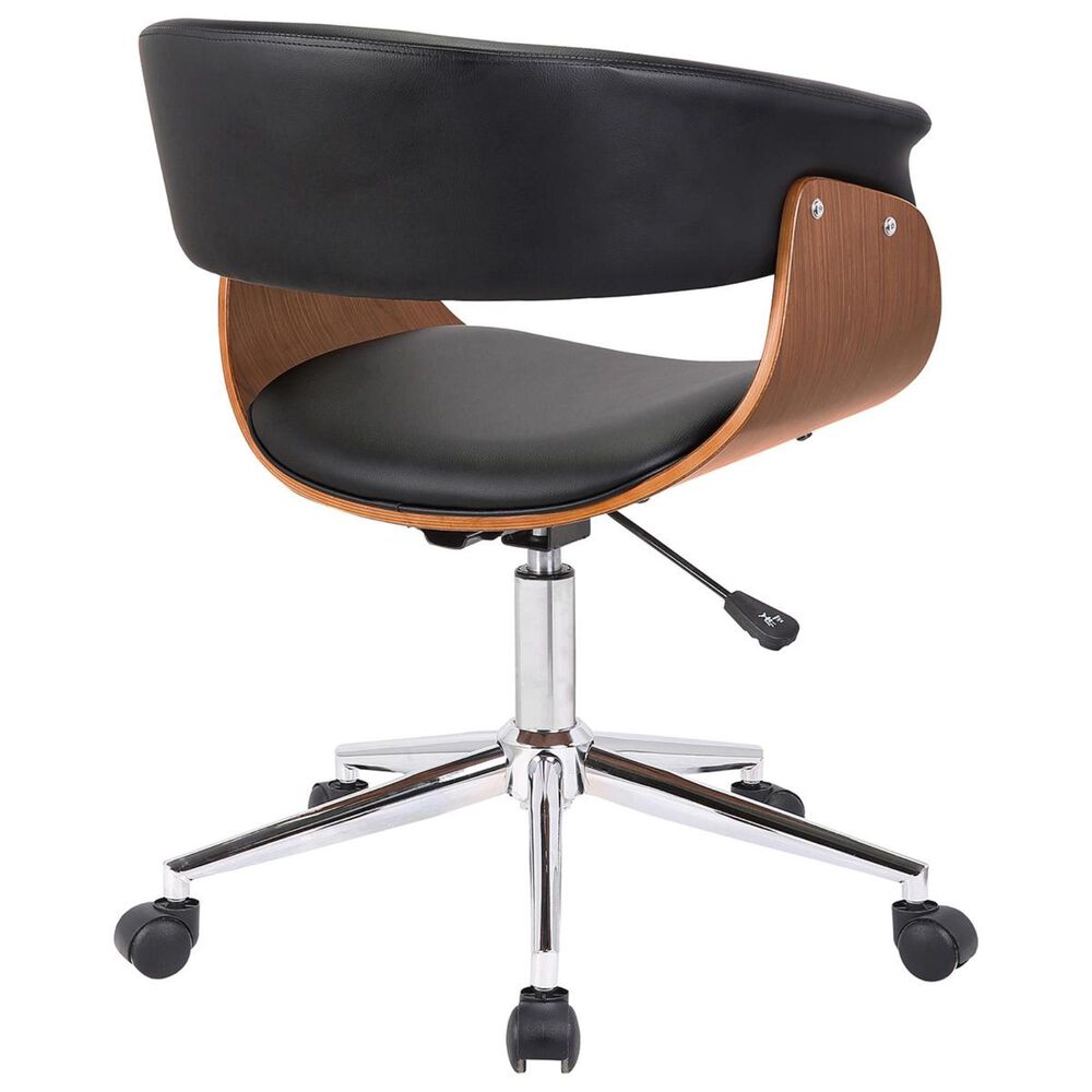 Blue River Bellevue Office Chair in Black, Walnut, and Chrome, , large