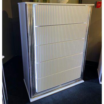 Global Furniture USA Aspen 5 Drawer LED Chest in White Gloss, , large