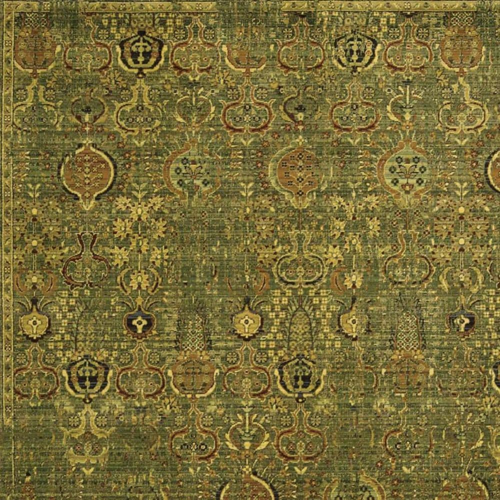 "Nourison Timeless TML11 8'6"" x 11'6"" Green Gold Area Rug, , large"
