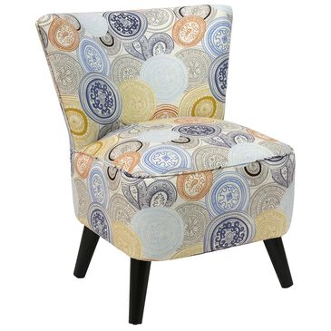 Skyline Furniture Chair in Painterly Medallion Multicolor, , large