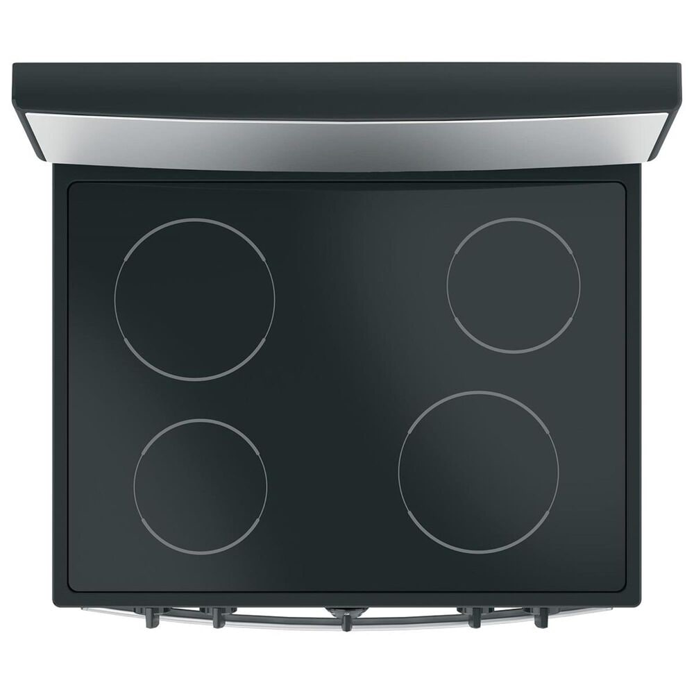 GE Appliances 30 Electric Radiant Smooth Cooktop Range in Stainless Steel, , large