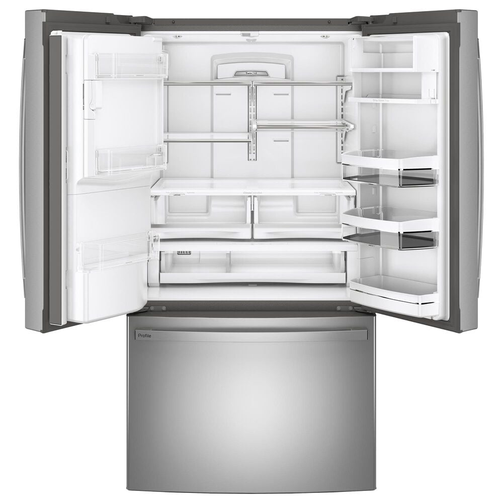 GE Profile 27.7 Cu. Ft. French-Door Refrigerator with Hands-Free AutoFill in Fingerprint Resistant Stainless Steel, , large