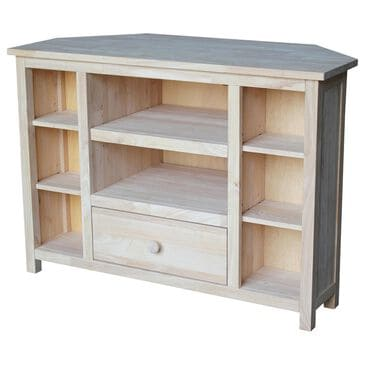 """International Concepts Corner 39.5"""" TV Stand in Unfinished, , large"""