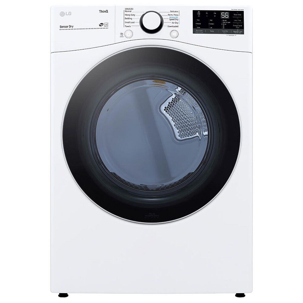 LG 7.4 Cu. Ft. Front Load Gas Dryer in White, , large