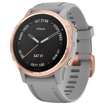 Garmin Fenix 6S Sapphire Smartwatch 42 mm in Rose Gold and Gray Sapphire Edition with Music, Maps, and Wi-Fi, , large