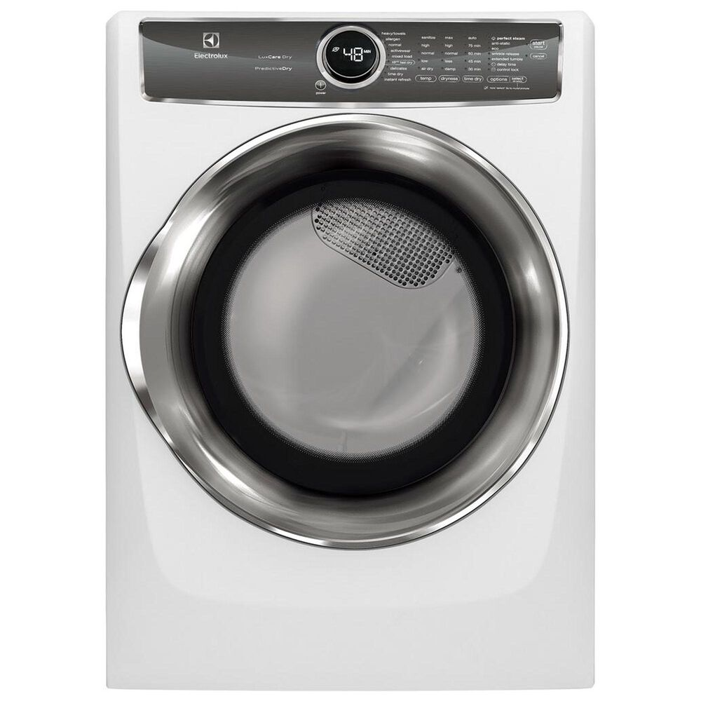 Electrolux 8.0. Cu. Ft. Front Load Perfect Steam Electric Dryer with PredictiveDry and Instant Refresh in White, , large