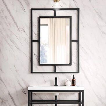 """James Martin Boston 30"""" Rectangular Mirror in Matte Black, , large"""