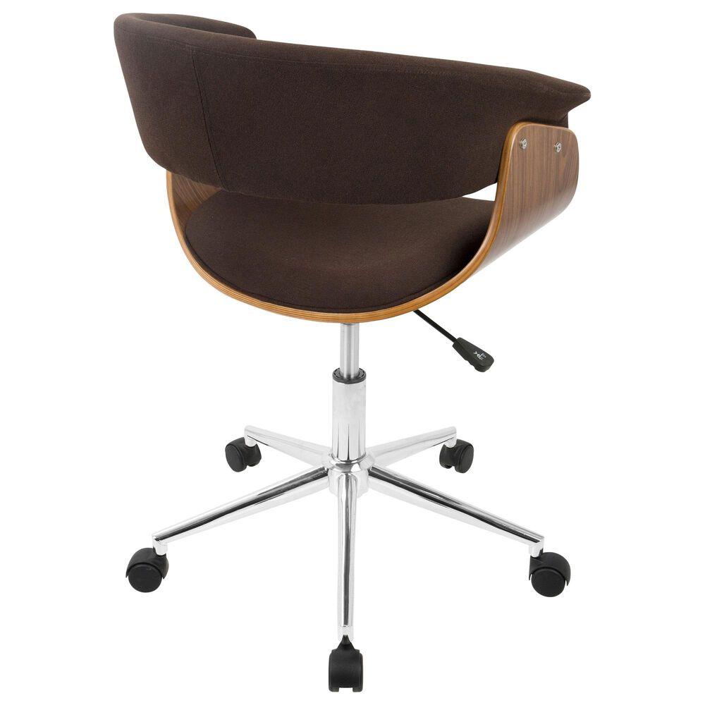 Lumisource Vintage Mod Office CHair in Espresso/Walnut/Chrome, , large