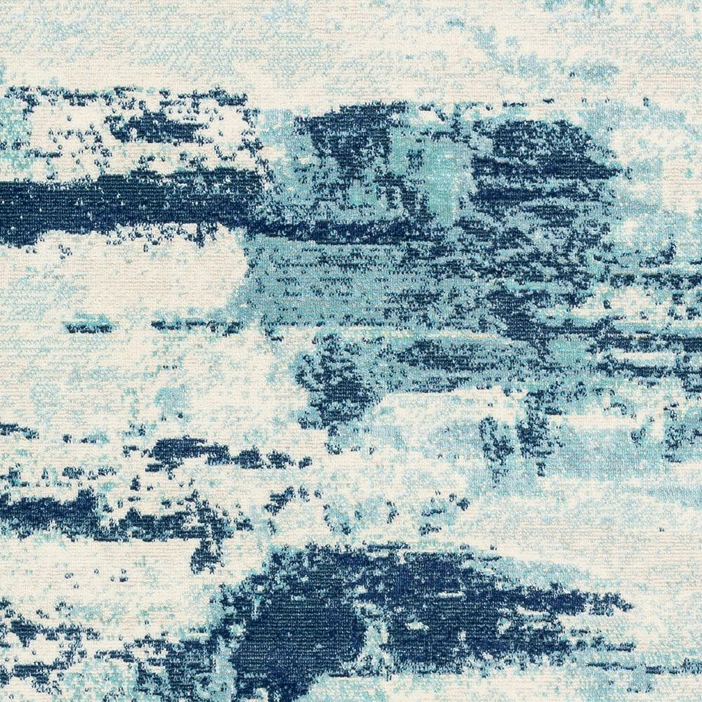 "Surya Bodrum 8'10"" x 12' Ivory, Gray, Navy, Aqua and Blue Area Rug, , large"