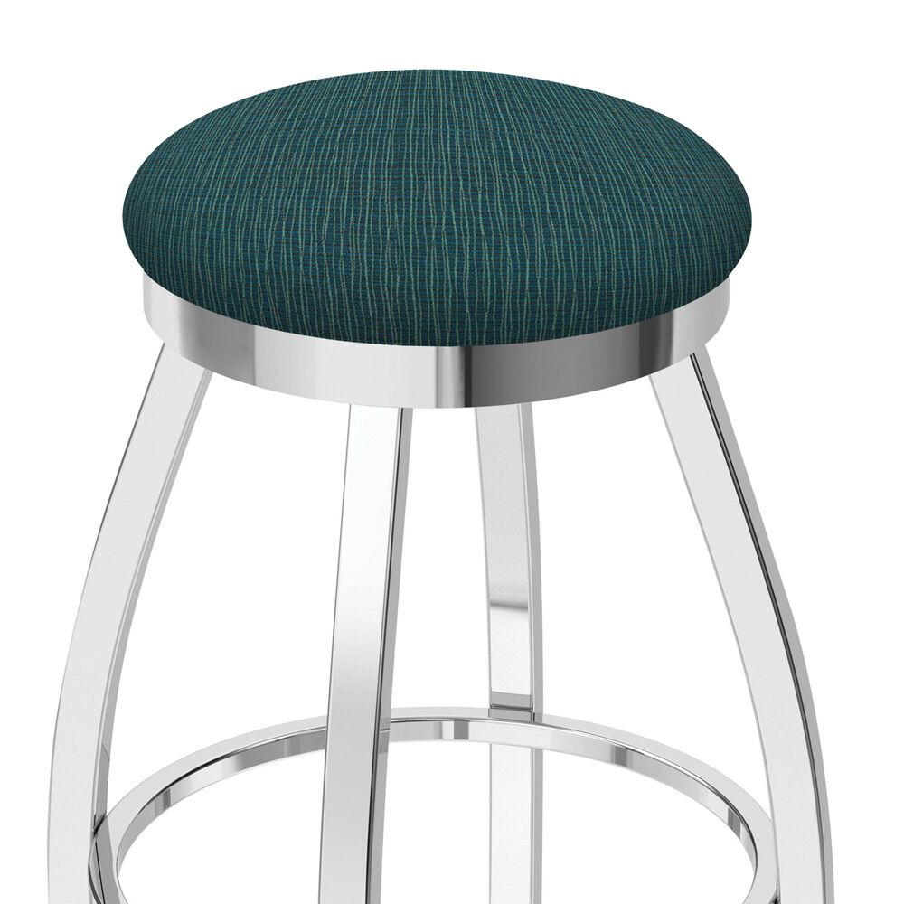 """Holland Bar Stool 802 Misha 25"""" Swivel Counter Stool with Chrome and Graph Tidal Seat, , large"""