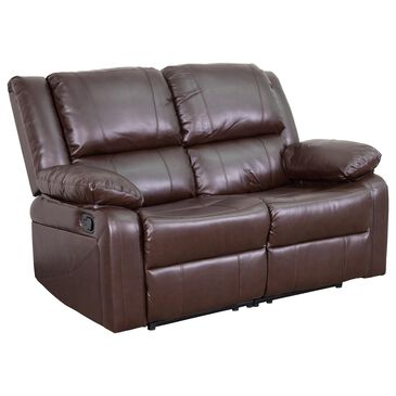 Flash Furniture Harmony Series Loveseat in Brown, , large