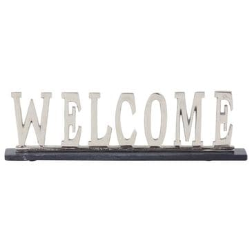 """Maple and Jade 21"""" x  6"""" Glam Aluminum Decorative Sign in Silver, , large"""